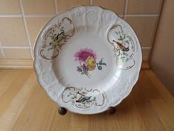 Antik Meissen porcelán madaras mintázatú tányér kistányér meisseni 21,5 cm