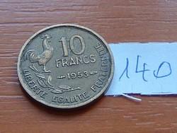 FRANCIA 10 FRANK FRANCS 1953 KAKAS 140.