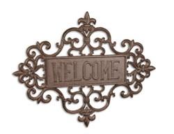 Vas üdvözlő tábla -welcome tábla
