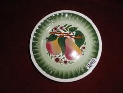 Gránit magyar porcelán pohár alátét, körte mintás.
