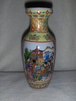 Dúsan díszített Kínai porcelán váza 20 cm (18/d)