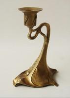 Szecessziós bronz gyertyatartó -art nouveau