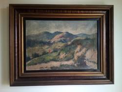 Guzsik Ödön (1902-1954) nagyméretű festménye, olaj/vászon