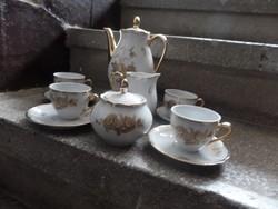 Colditz Német porcelán kávéskészlet