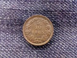 Ausztria Ferenc József 1/2 Krajcár 1885 verőtő repedéssel/id 9177/