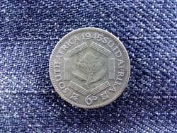 Dél-afrikai Köztársaság VI. György .800 ezüst 6 Penny 1945/id 9212/