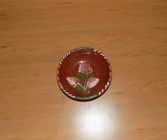 Sárospataki mázas kerámia falitányér 11,5 cm (3p)