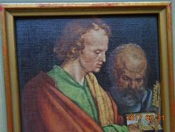 DÜRER NÉGY APOSTOL keretezett nyomat-13,5x9,5 cm