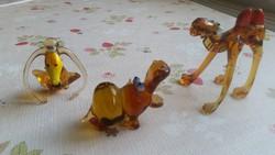 Különleges, öntött, üveg figura 3 db eladó!