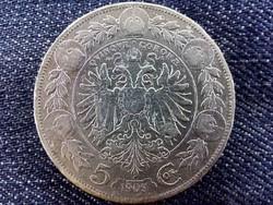 Ausztria Ferenc József .900 ezüst 5 Korona 1909/id 9176/