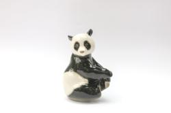 Lomonosov panda mackó - maci porcelán figura