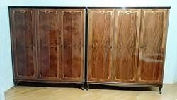 Neobarokk intarziás ruhásszekrény