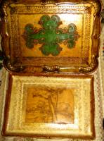 2 db Olasz firenzei, florentine tálca