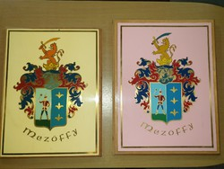 Mezőffy családi címer -2db-