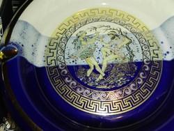 Görög,24k arannyal ,kézzel festett asztali hamuzó.