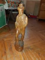 55CM-es faragott fa szobor, fa faragás,