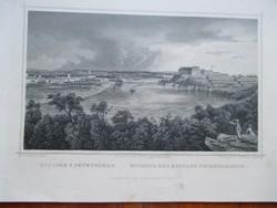 Rohbock-metszet (acélmetszet, 1800-as évek): Újvidék és Pétervárad