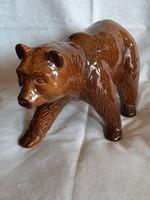 Mázas kerámia medve