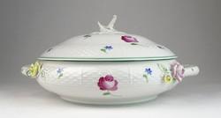 0T971 Antik Herendi porcelán leveses tál