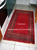 Gyönyörű kézi pakisztáni perzsa szőnyeg.Méret a képeken/75x145 cm
