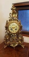 Antik rokokó asztali óra