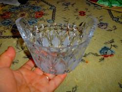 Dézsa alakú üveg sótároló tál