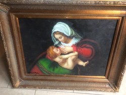 Itáliai olaj festmény szignált-vallási témájú