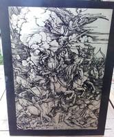 A.A. Dürer   Apokaliptikus lovagok    nyomat alumínium lemezen