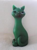 Régi zöld gumi macska, cica  - '60-as évek