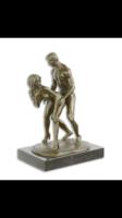 Àllva szexelő pár-akt bronzszobor-erotikus