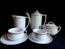 MZ Altrohlau szecessziós vonalú két személyes teáskészlet