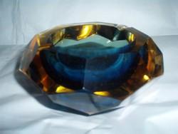 Muránói  kristály SOMMERSO hamutartó