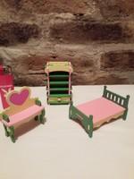 Miniatűr  fa baba bútorok 3 db