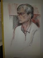 Nagyméretű férfiportré