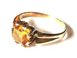 Régi arany gyűrű citrin kővel (14 k)