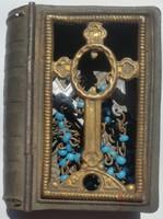 Rózsafüzér tartó türkiz kék gojós gyermek olvasó, tartó mérete:4,5cmX3,5cmX1,3cm,olvasó mérete:26cm