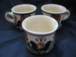 Korondi mokkás csészék egyben 3 db.
