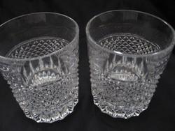 Kristály pohár pár gyertyatartónak is