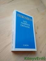 Upor László (szerk.): Titkosírás / Mai amerikai drámák