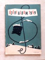 Régi újévi album kottafüzet retro kotta 1959