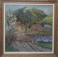 Márton Béla (1913-2016) Patak völgy a Kárpátokban