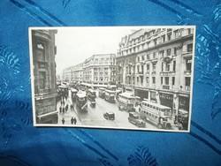 régi századeleji képeslap london oxford circus