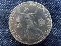 Ausztria ezüst 5 Korona 1908 (id9175)