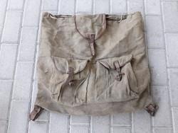 Zubek Bertalan és Társa régi antik vadász hátizsák túra túrista zsák WWI első világháborús