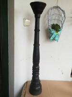 Antik fa óriás gyertyatartó 80 cm