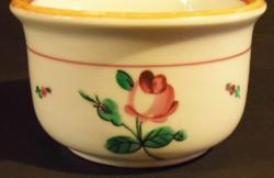 Antik koma csésze (Bécsi rózsás) kézi festett