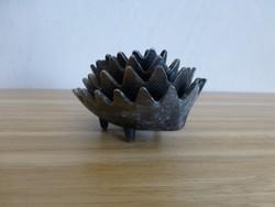 Ritka art deco fém egymásba rakható süni alakú ékszertartók,gyűrűtartók Walter Bosse designe