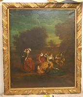 Barokk olajfestmény XVIII. század. Ismeretlen osztrák festőművész alkotása. Eredeti.