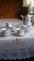Porcelán kávéskészlet  eladó!Kék mintás, gyönyörű, különleges formájú készlet