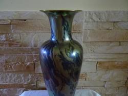 Zsolnay eozin nagy porcelán váza törött, ragasztott